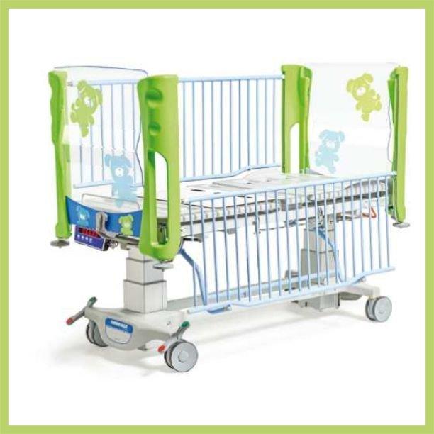 Lettino pediatrico con sistema di pesatura integrato