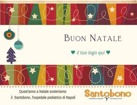 Bigliettino d'auguri solidale Santobono - digitale - modello Stelle