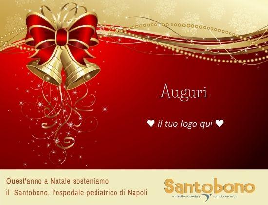 Bigliettino d'auguri solidale Santobono - digitale - modello Campane