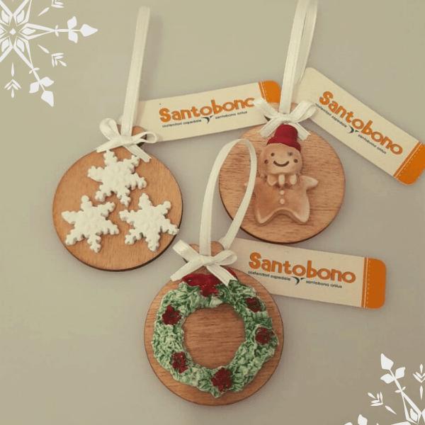 Regali Solidali Santobono - Tris decorazioni Natale
