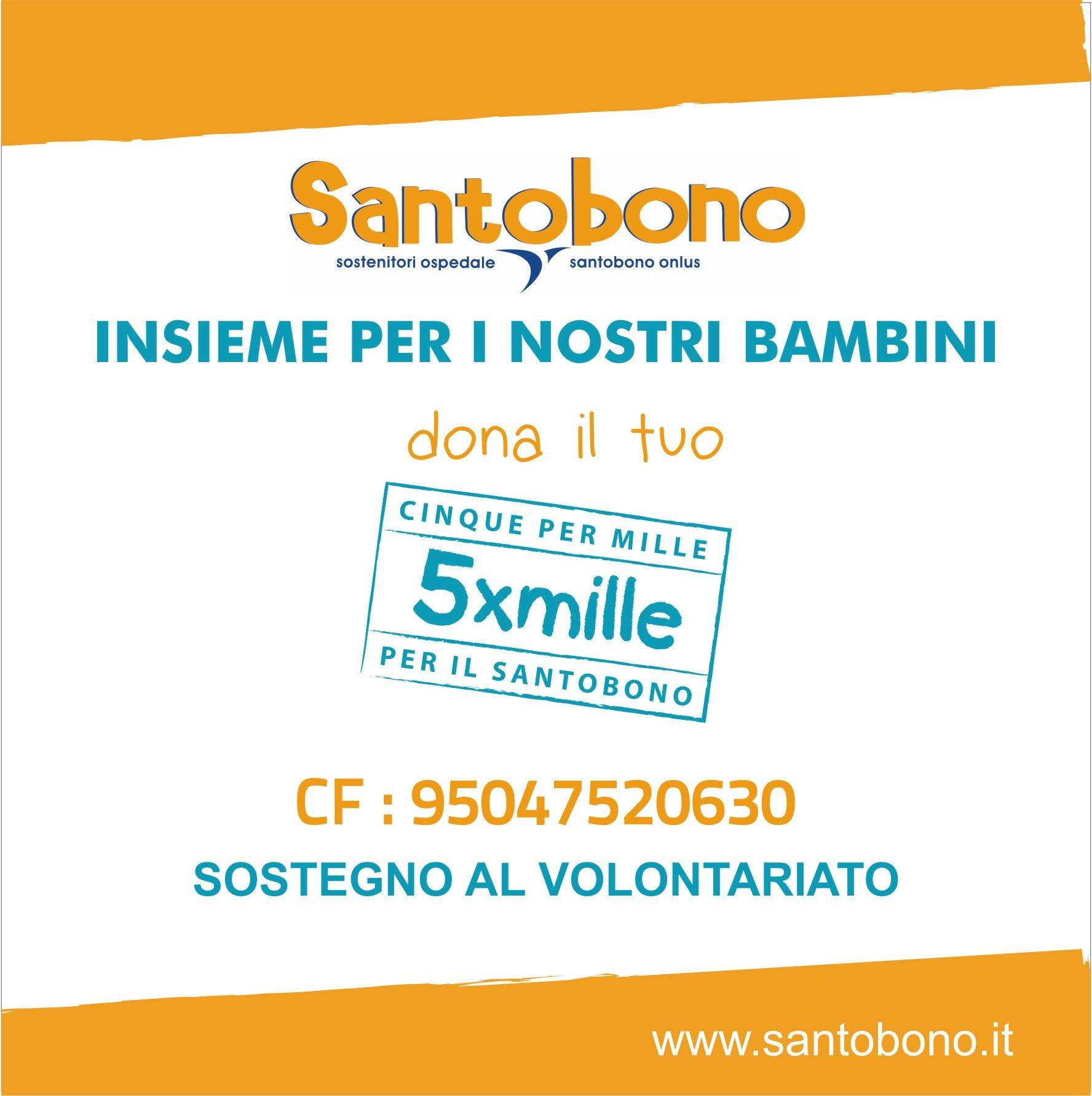 5 Per Mille al Santobono | CF 95047520630 | sez. SOSTEGNO AL VOLONTARIATO